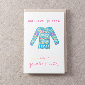 Favorite Sweater Card