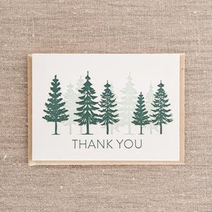 Thank You Trees Overprint Card