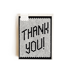 Retro Tile Thank You Card - Set of 8