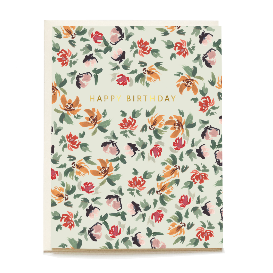 Sage Posy Birthday Card