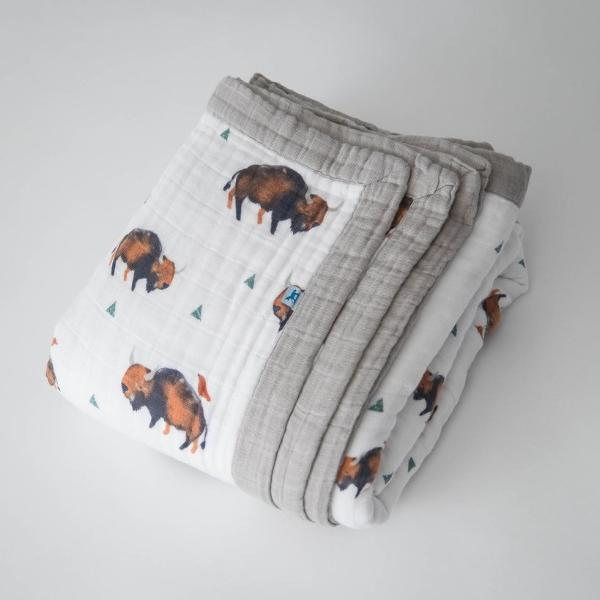Tiny Bison XL Cotton Muslin Quilt