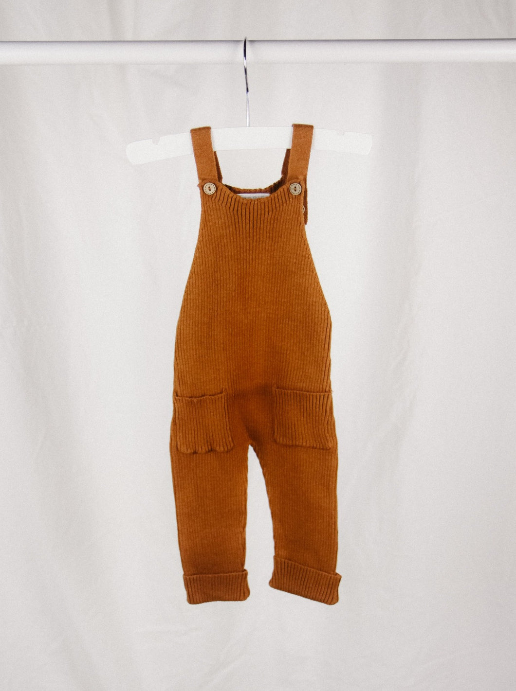 Knit Overalls in Rust