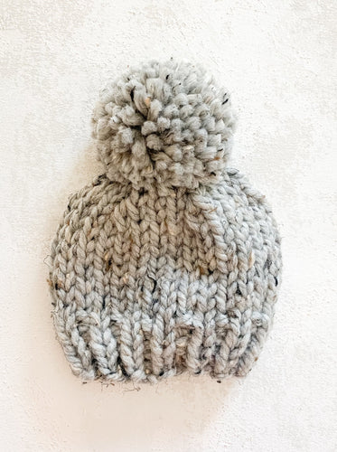 Grey Marble Baby Beanie
