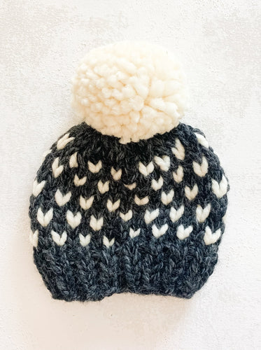 Charcoal Baby Beanie