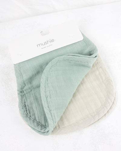 Burp Cloth - Roman Green/Fog