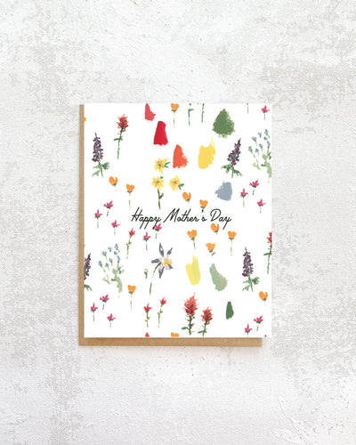 Mountain Wildflowers Mother's Day Card