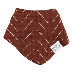 Rust Mudcloth Triangle Bib