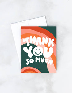 Wavy Thank You Card