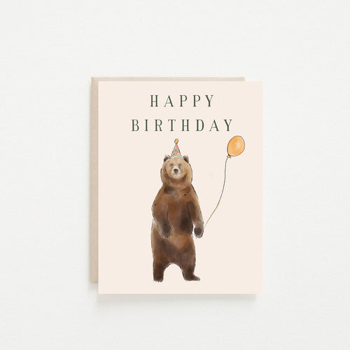 Happy Birthday Grizzly Card