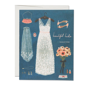 Beautiful Bride Wedding Card