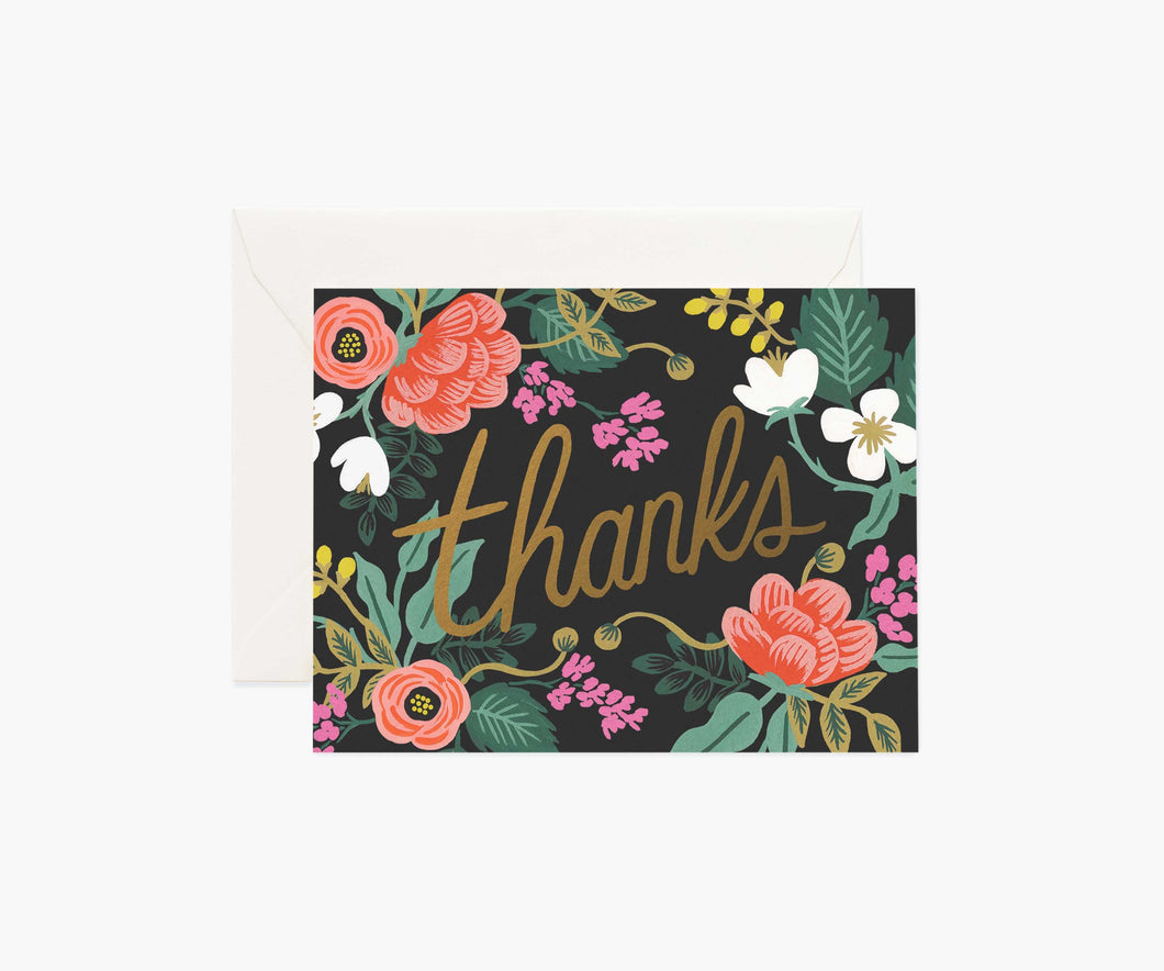 Birch Floral Thank You Card