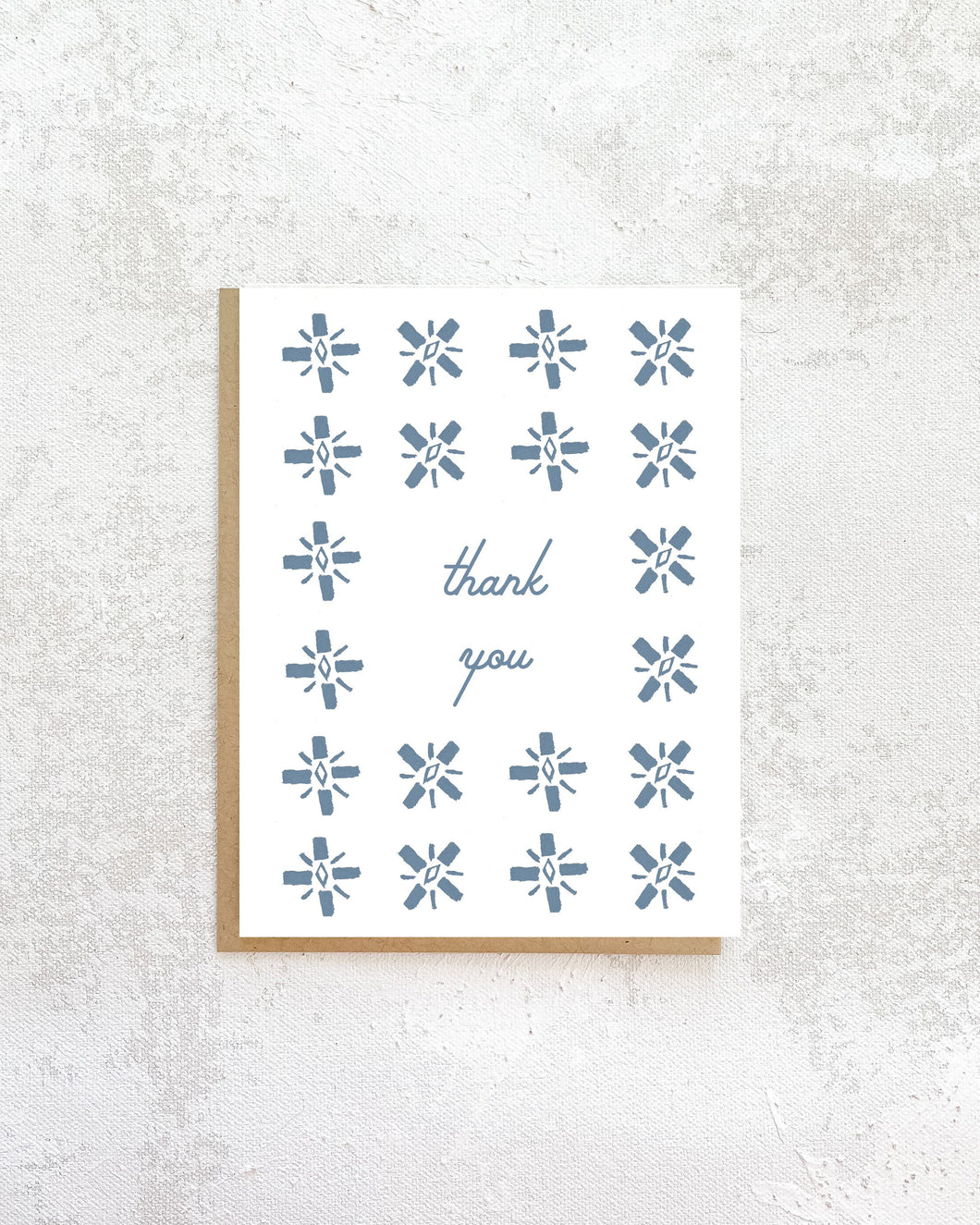 Blue Tile Thank You Card