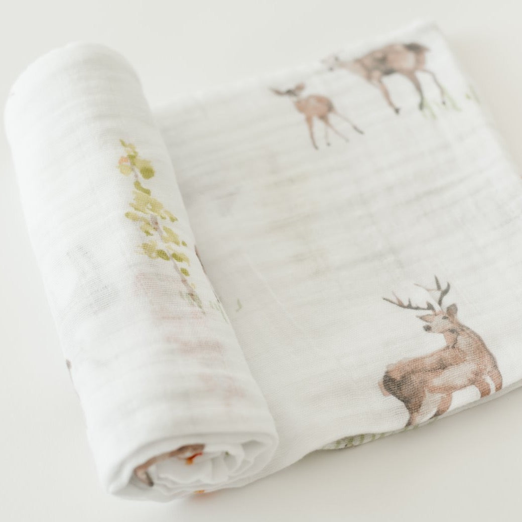 Oh Deer Cotton Muslin Swaddle