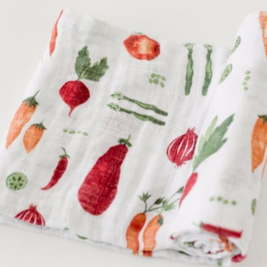 Farmers Market Cotton Muslin Swaddle