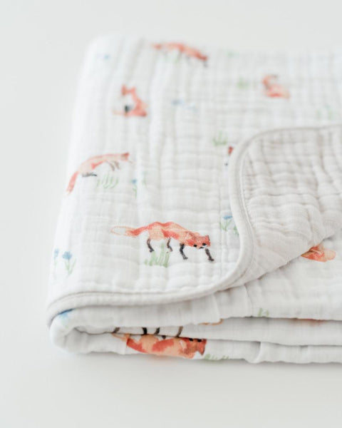 Todd the Fox Cotton Muslin Quilt