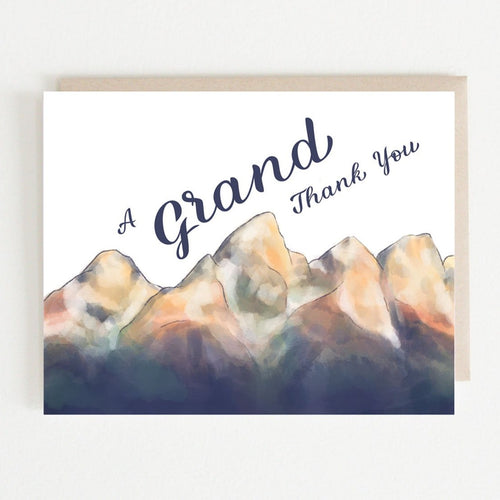 Grand Thank You Card