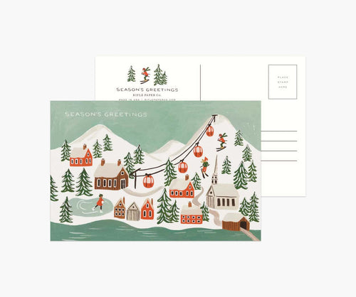 Pack of 10 Holiday Snow Scenes Postcards