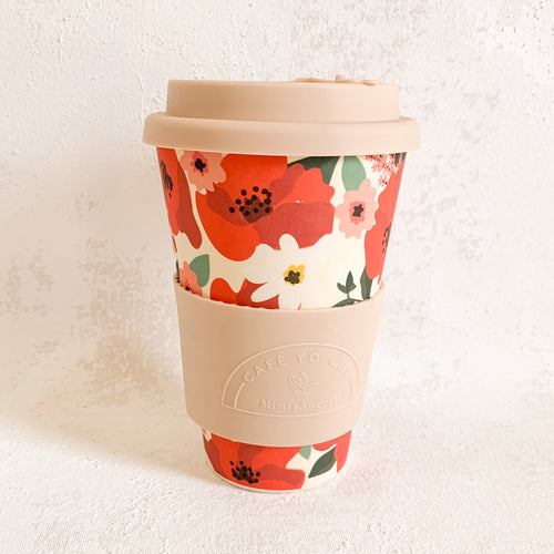 Floral Cafe Cup