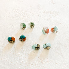 Turquoise Cluster Stud Earrings