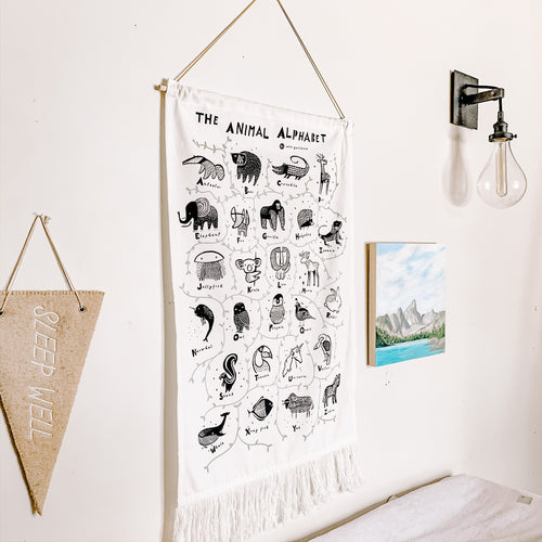 Animal Alphabet Wall Hanging Chart