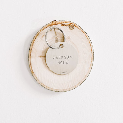 Jackson Hole Brass Key Ring