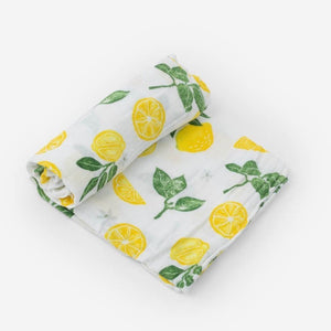 Lemons Cotton Muslin Swaddle
