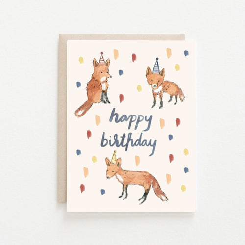Birthday Foxes Card