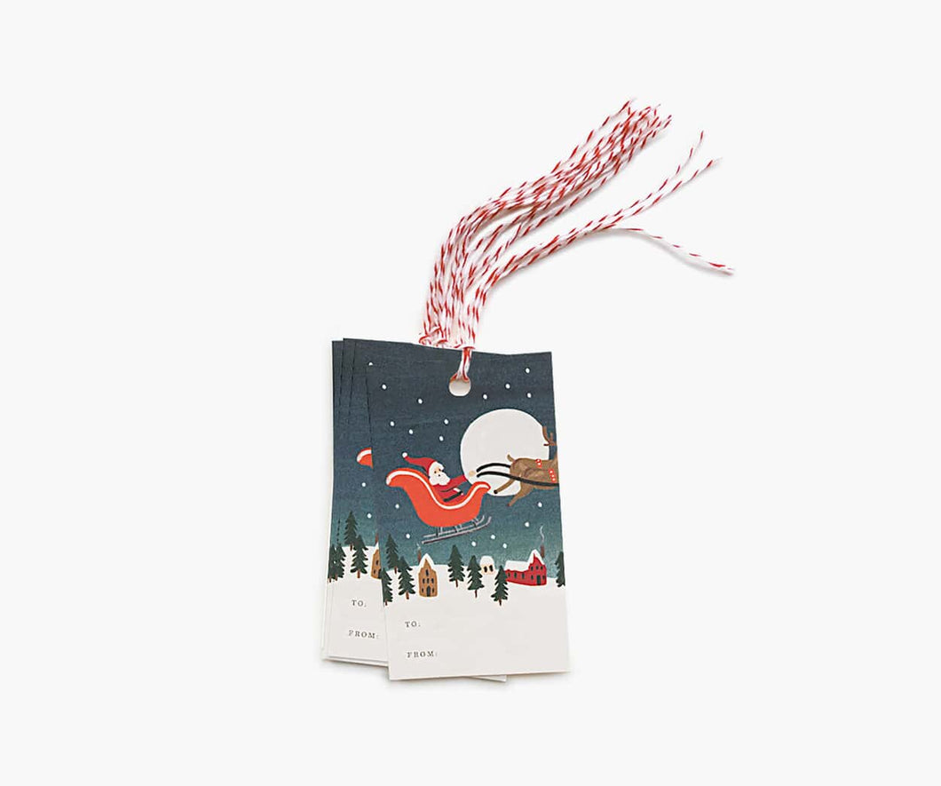 Pack of 10 Santa's Sleigh Gift Tags