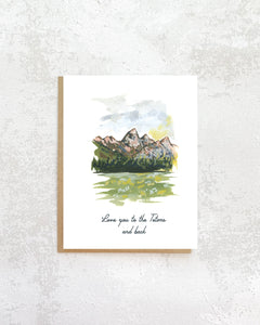 Tetons and Back Love Card