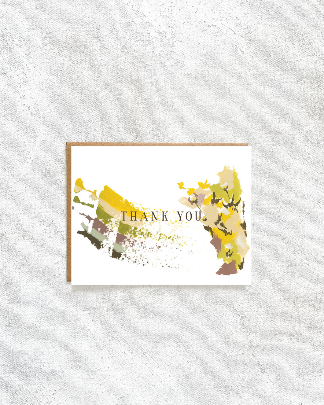 Fall Florals Thank You Card