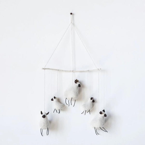 Felted Sheep Mobile