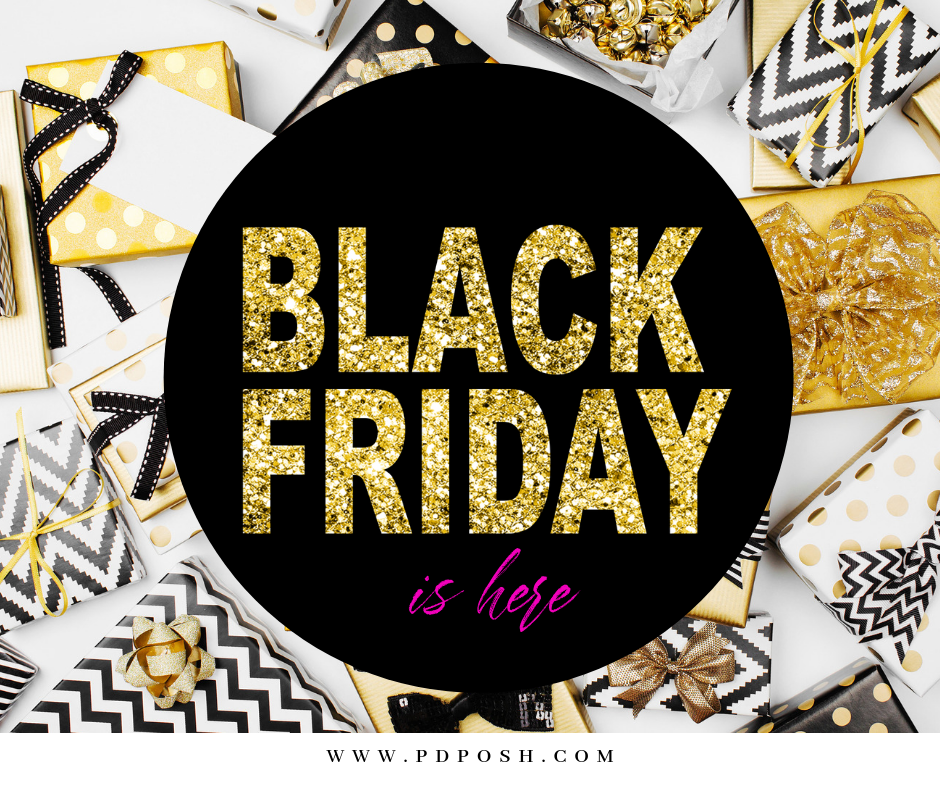 Black friday sale polka dot posh