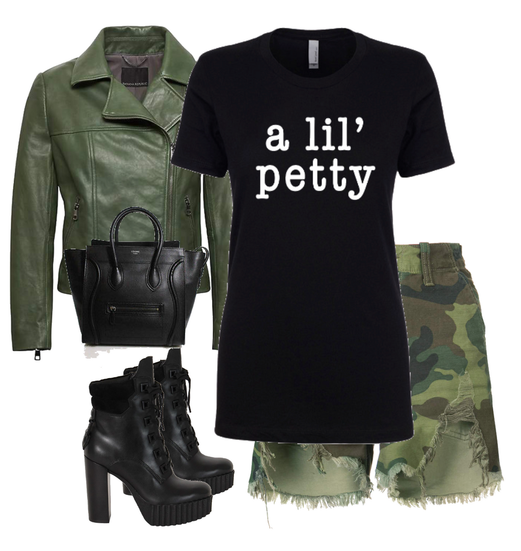A lil' Petty Ladies Fashion graphic Tee - Polka Dot Posh Boutique