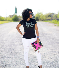 Thou Shalt Stay in Thine Own Lane Ladies Fashion Graphic Tee - Polka Dot Posh Boutique