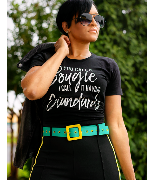 You Call it Bougie, I Call it Having Standards Ladies Fashion Graphic Tee - Polka Dot Posh Boutique