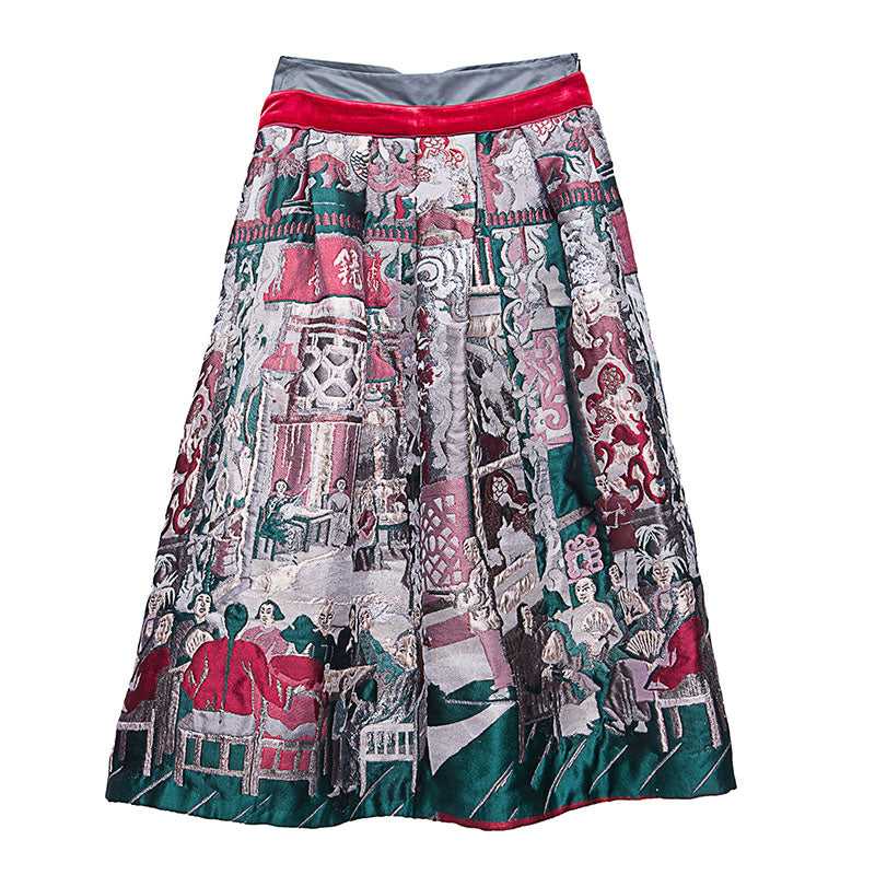 TWO LAYERS SKIRT