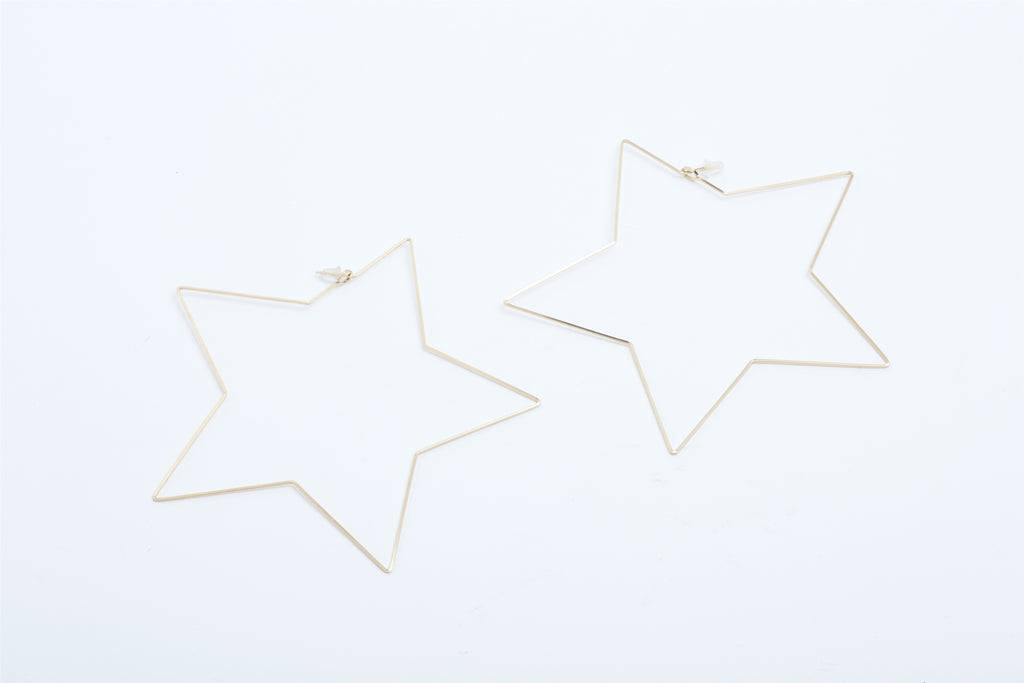 Large Star Hoops