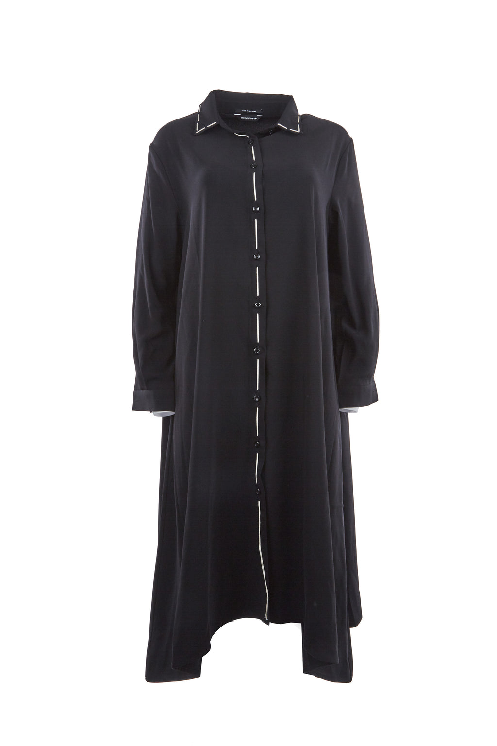 Scherzazndo oversize shirts dress with hand st.