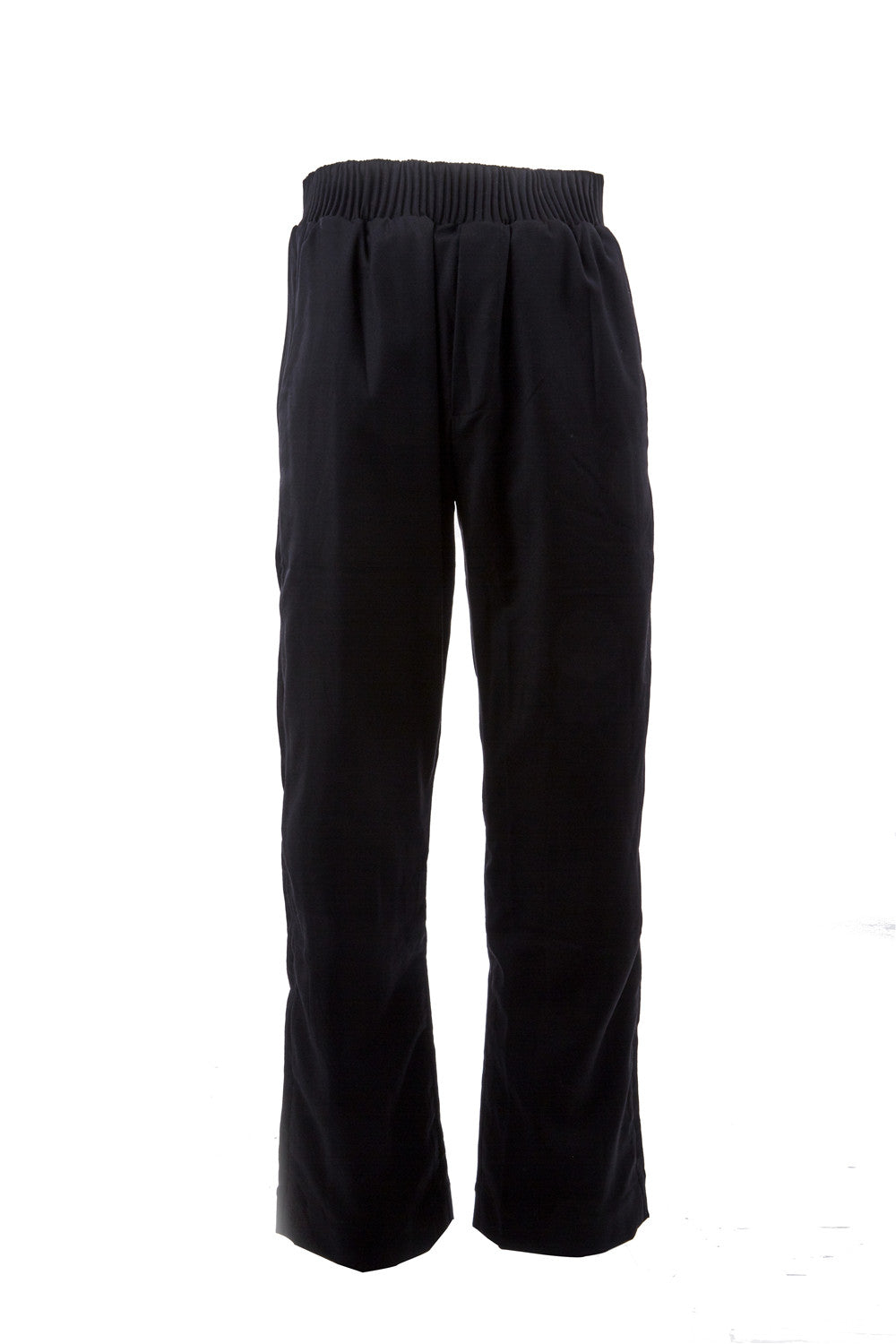 Wool Pants with Raw Edge Panels