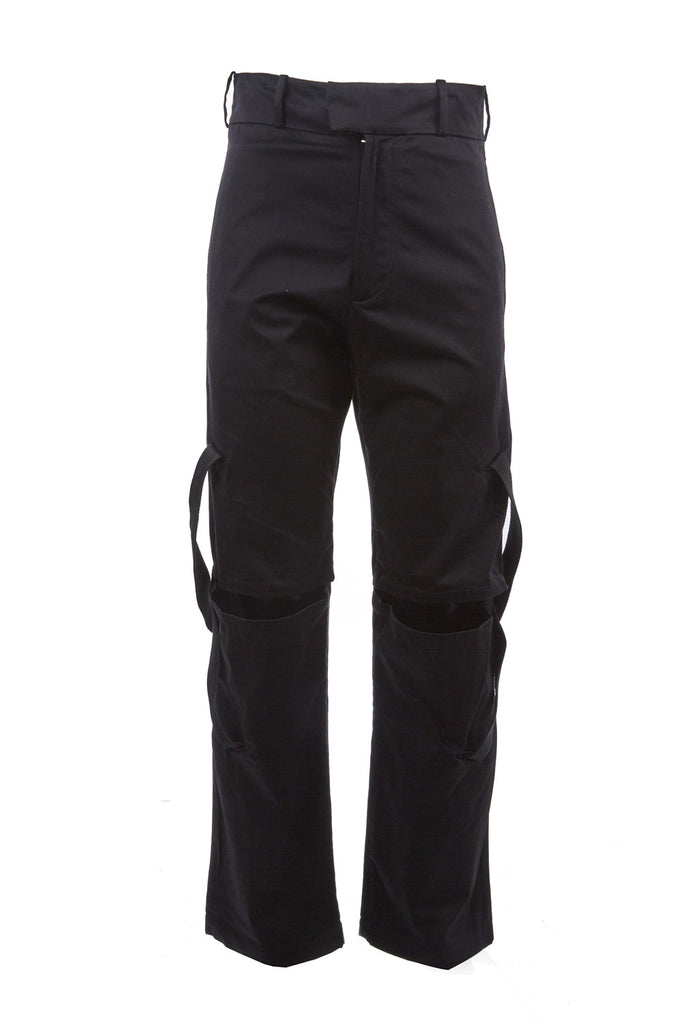 Canvas Open-Knee Pants