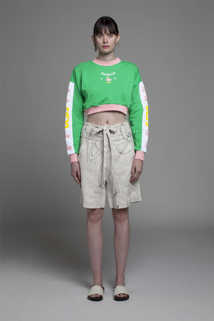 SWAN CROP SWEAT