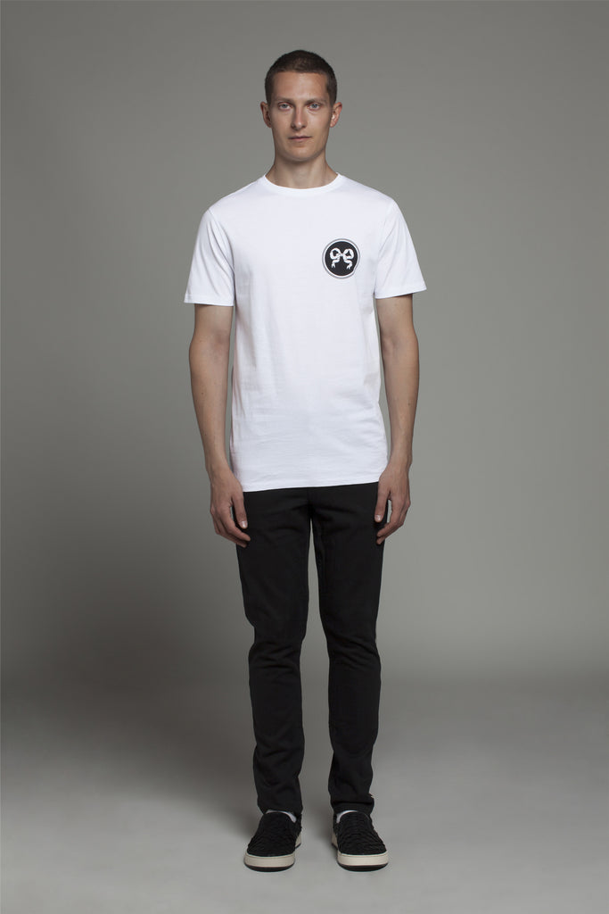 WHITE NOS RIBBON T-SHIRT