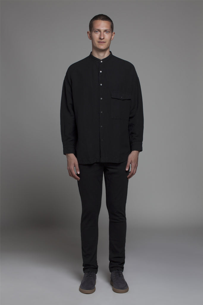THE LINEN CHEST POCKET LONG SLEEVE SHIRT