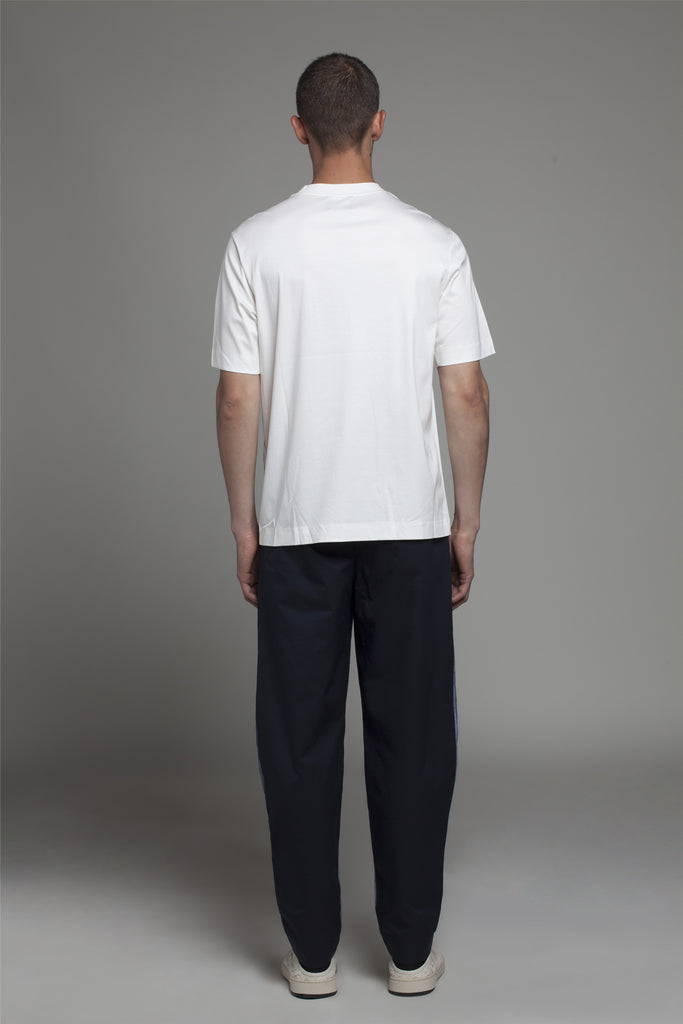 DRAPED CONTRAST TRACK TROUSERS