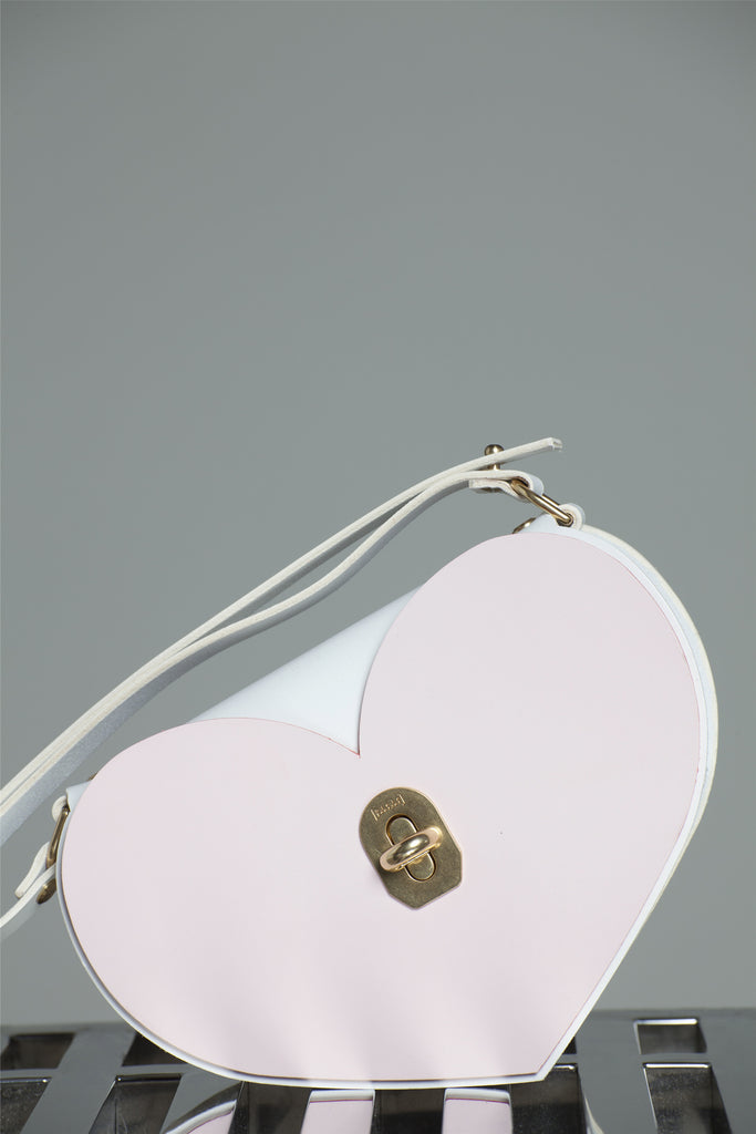 PINK HEART SHOULDER BAG