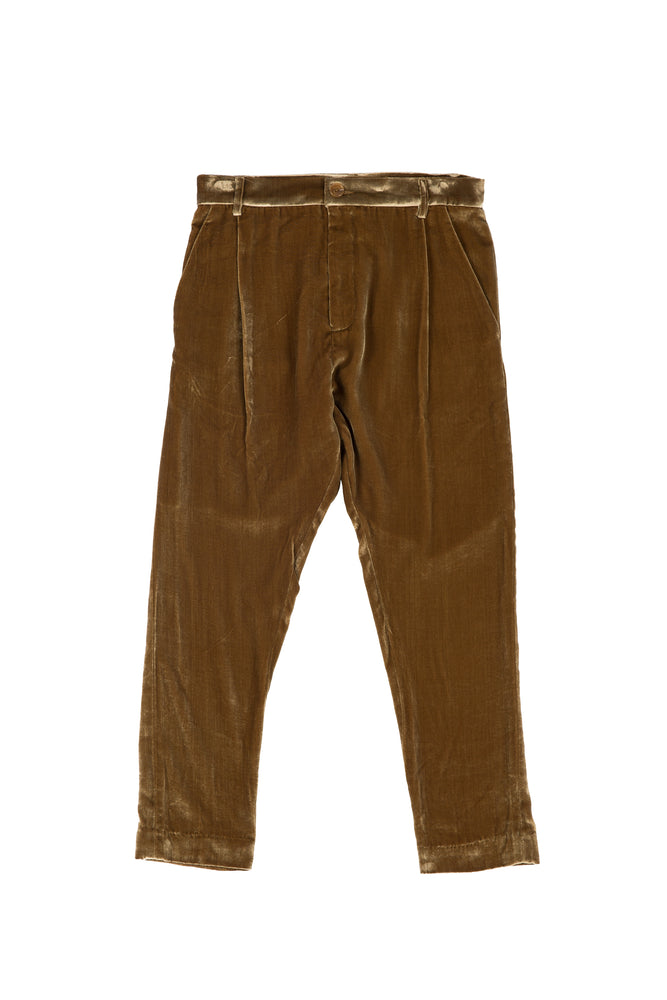 PLEATED WIDE-TAPER PANT