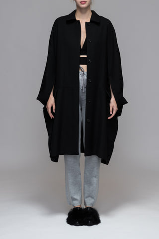 CAPE SLEEVE COAT