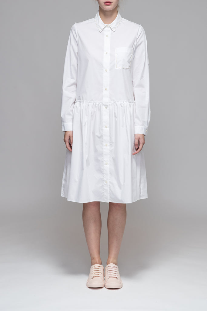 RAW ARMHOLE SHIRT DRESS