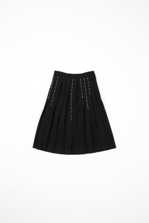 Pleats Skirt with Hand Stitches