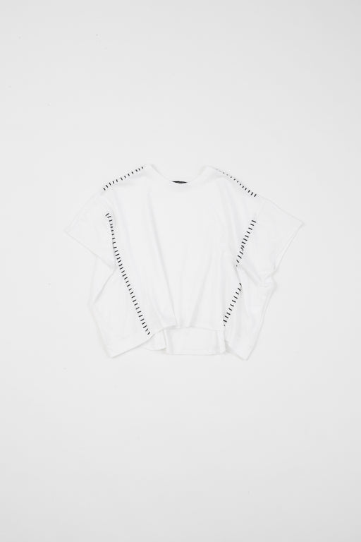 Boxi ray sleeve top with hand stitches